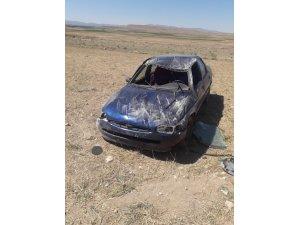 Direksiyon hakimiyeti kaybolan otomobil takla attı: 1 yaralı