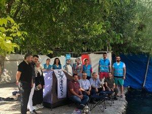 Gençler huzurla kamp yaptı