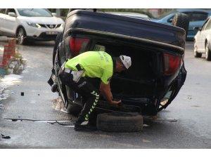 Başkentte alkollü sürücü kaza yaptı: 5 yaralı