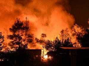 Eğriboz Adası'ndaki orman yangını! 3 gündür söndürülemiyor...
