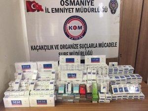 Evin ahırında gizlenen 805 paket kaçak sigara ele geçirildi