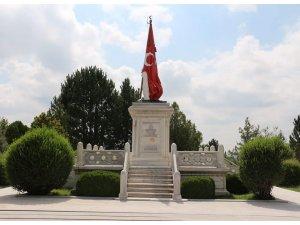 """""""Şehit Sancaktar Mehmetçik Anıtı'nın temeli Atatürk tarafından Zafertepeçalköy'de atılmıştır"""""""