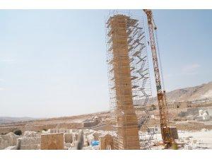 Hasankeyf'teki 650 yıllık Koç Camii yeni yerine yerleştirildi