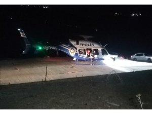 Bakan Paktemirli'den yangın noktalarına gece saatlerinde helikopterli denetim