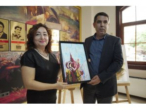 Çayeli'nde sanat severler sergide buluştu