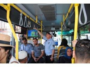 Zabıtadan toplu taşıma araçlarında klima denetimi