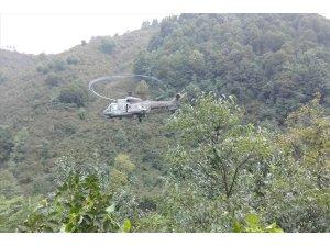 """MSB: """"Silahlı Kuvvetlerimize ait Arama Kurtarma Helikopteri ile 17 vatandaşımız kurtarılarak bölgeden tahliye edilmiştir"""""""