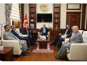 Erzurum Valisi Okay Memiş, Vali Cüneyt Epcim'i ziyaret etti