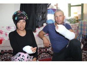 Karaman'da hamile kadın ile kocasına silahlı ve sopalı saldırı