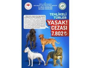Van dkmp tehlikeli ve yasak olan köpek türlerini açıkladı