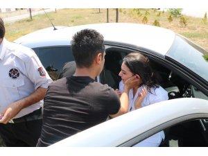 Geçirdiği şokun etkisi ile kaza yaptığına inanamadı