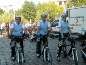 Bisikletli polisler Lüleburgaz'da göreve başladı