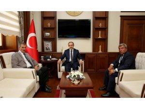 Belediye Başkanları Vali Cüneyt Epcim'i ziyaret etti