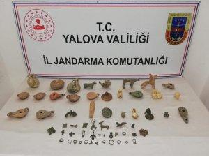 Yalova'da tarihî eser operasyonu