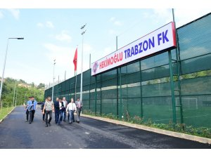 Vali İsmail Ustaoğlu, Hekimoğlu Trabzon FK'yı ziyaret etti