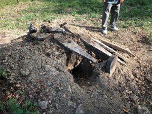İki kez açılan mezara fotokapan yerleştirildi