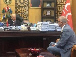 Başkan Ergün MHP Lideri Bahçeli'yi ziyaret etti