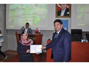 'Süt Hijyeni Mesleki Eğitim Kursu'nu tamamlayan kadın çiftçilere sertifika verildi
