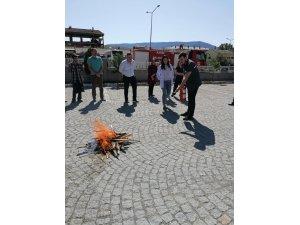 Kargı Devlet Hastanesi'nde yangın tatbikatı