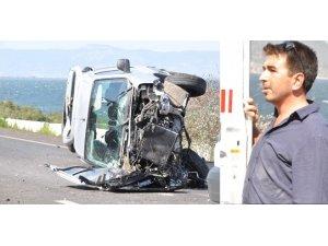 Bafa Gölü yolunda feci kaza