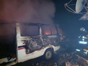 Yatağan'da araç yangını