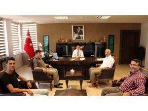 Gazetecilerden Kaymakam Erat'a ziyaret