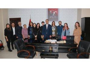 'Erasmus+' proje ortakları İlçe Milli Eğitim Müdürü Erkan Bilen'i ziyaret etti