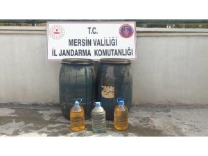 Tarsus'ta 125 litre sahte içki ele geçirildi