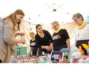 Balçovalı kadınlardan şiddete karşı kermes