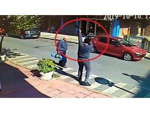 14 yaşındaki çocuğa pompalı tüfekle saldırı anı güvenlik kamerasında
