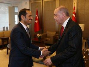 Cumhurbaşkanı Erdoğan, Katar Başbakan Yardımcısını kabul etti