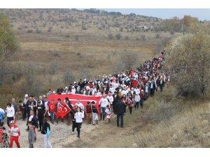Çankırı'da 10. İstiklal Yolu Yürüyüşü yapıldı
