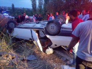 Malatya'da otomobil takla attı: 7 yaralı