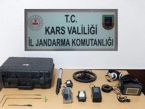 Kars'ta izinsiz kazı yapanlar yakalandı