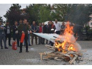 Havza'da yangın eğitimi ve tatbikatı