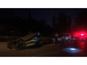 Gemlik'te otomobil ile traktör çarpıştı: 2 yaralı