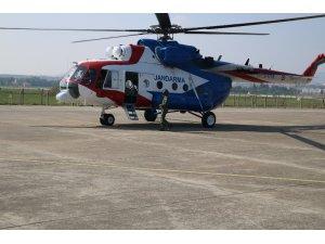 Balıkesir'de helikopterle havadan trafik denetimi