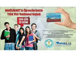 Öğrenciler'in Manisakart vizesi için son gün 31 Ekim