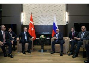 """Cumhurbaşkanı Erdoğan: """"Bu görüşmenin Barış Pınarı Harekatı'na çok ciddi fırsatlar sağlayacağına inanıyorum"""""""