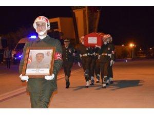 Şehit Zekeriya Altunok'un naaşı memleketi Kayseri'ye gönderildi