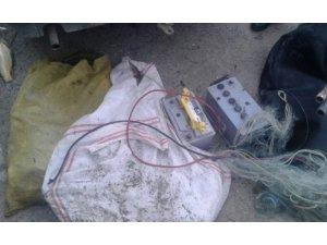 Siirt'te kaçak balık avlayan 2 kişi yakalandı