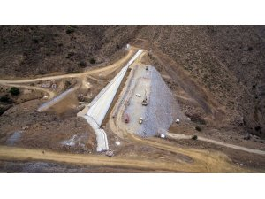 Alaşehir'de Horzum-Alayaka barajının gövde dolgusu bitti