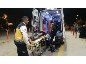 Motosikletli kurye yaralandı