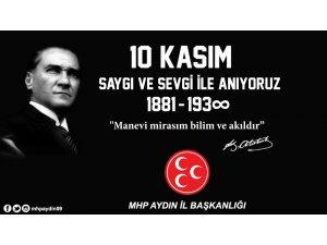 MHP İl başkanı Pehlivan: Atatürk Türk Milletinin ortak değeridir
