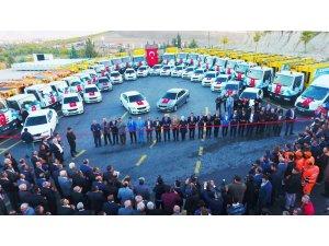 Battalgazi Belediyesinin araç  filosuna  75 takviye