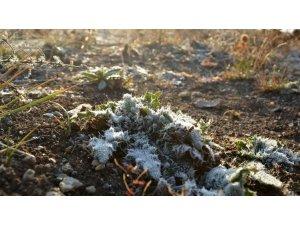 Bayburt'ta hava sıcaklığı geceleri sıfırın altına düştü
