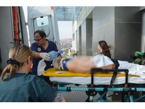 Tekirdağ'da üzerine ağaç düşen adam ağır yaralandı