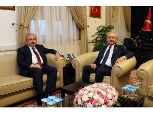 TBMM Başkanı Şentop, CHP Genel Başkanı Kılıçdaroğlu ile görüştü