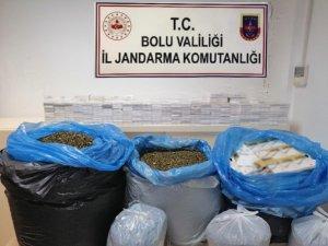 Bolu'da kaçak çay ve sigara operasyonu: 16 gözaltı