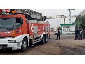 SÜTAŞ Fabrikası'ndaki yangın söndürüldü, bir işçi hastaneye kaldırıldı